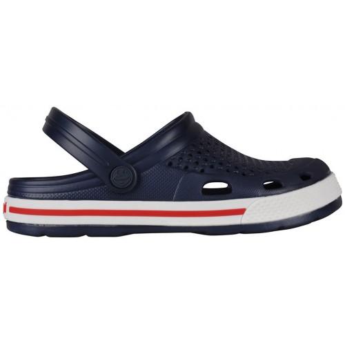 Медицинская обувь Сабо COQUI синий/белый/красная полоска № 6355