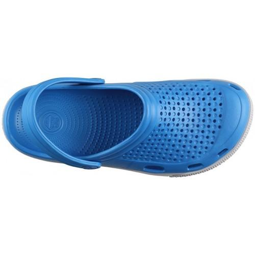 Медицинская обувь Сабо COQUI голубой/серый/белая полоска № 6352