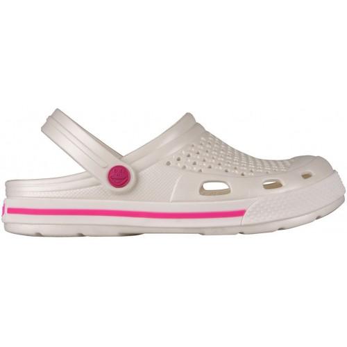 Медицинская обувь Сабо COQUI белый/розовая полоска № 6358