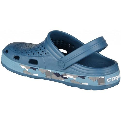 Медицинская обувь Сабо COQUI голубой/камуфляж № 6356