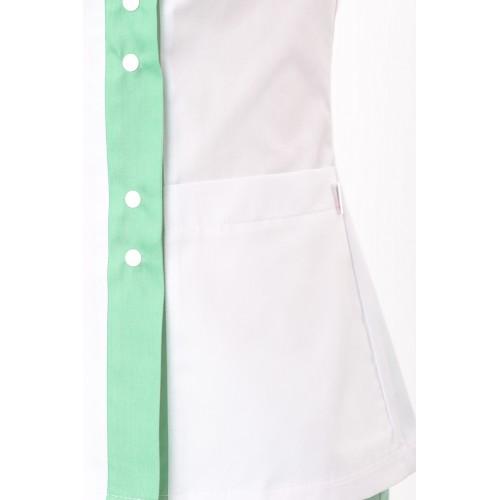 Медицинский костюм женский Шанхай белый/мятный