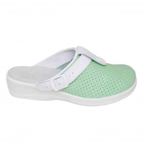 Медицинская обувь Сабо Лера c язычком Зеленый