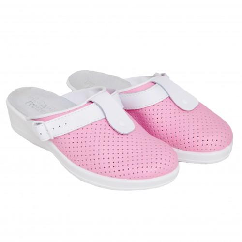 Медицинская обувь Сабо Лера c язычком Розовый