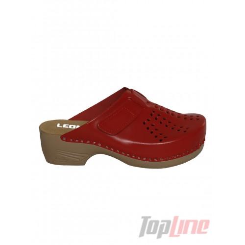 Сабо Leon PU161 Красные