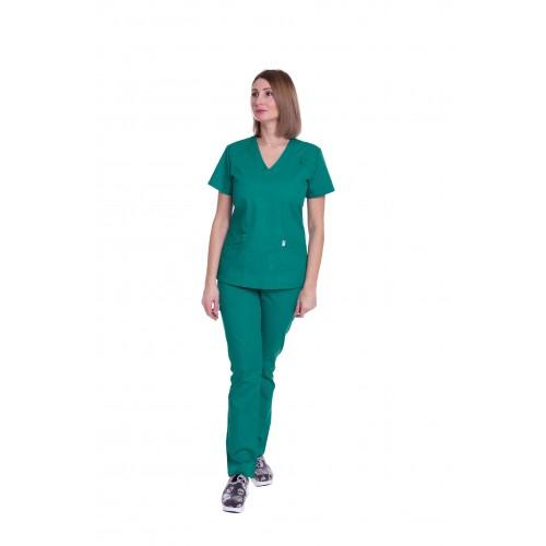Костюм женский Атланта (ПРЕМИУМ) зелёный №63315
