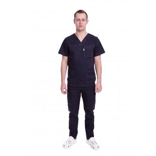 Медицинский костюм Балтимор (ПРЕМИУМ) Черничный