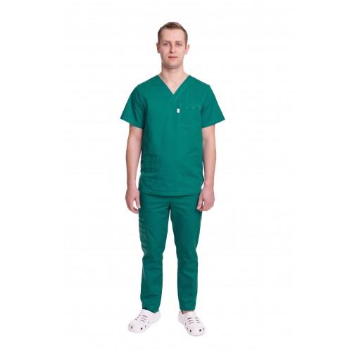 Медицинский костюм Балтимор (ПРЕМИУМ) Зеленый №13003