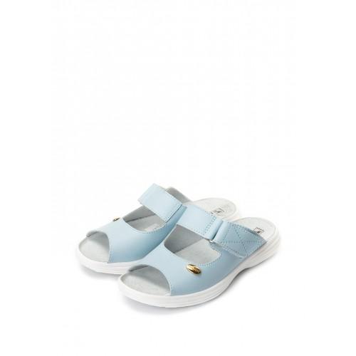 """TL Взуття """"Галя"""" 54-09 голуба кожа, відкриті з липучкою"""