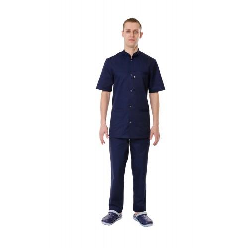 Медицинский костюм Берлин темно синий №1299