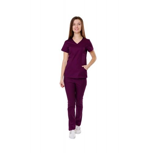 Медицинский костюм Сидней сливовый №10366