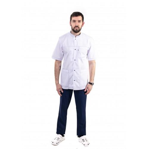 Медицинский костюм Новый Берлин Белый-темно/синий