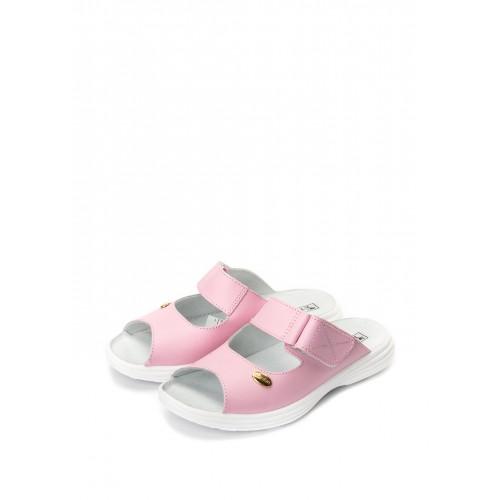 """TL Взуття """"Галя"""" 54-09 рожева кожа, відкриті з липучкою"""