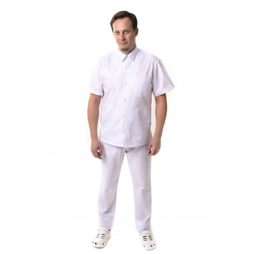 Медицинский костюм Гамбург Белый