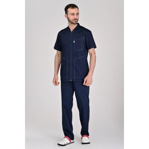 Медицинский костюм Бристоль темно-синий