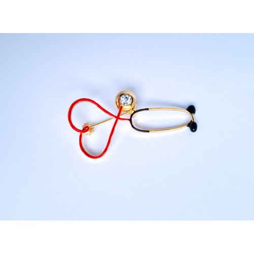 Бижутерия медицинская (стетоскоп-серце)