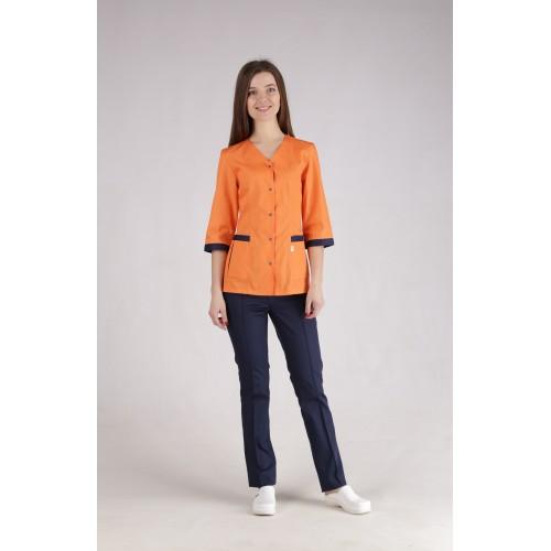 Медицинский костюм Сингапур Оранжевый-темно/синий