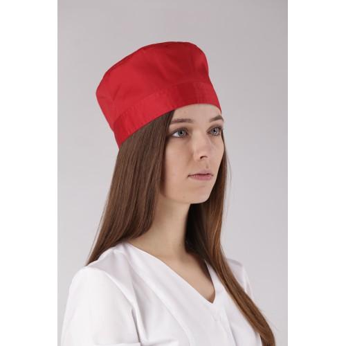 Медицинская шапочка красная №2