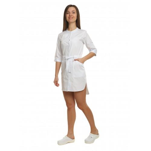 Медицинский халат женский Дели белый