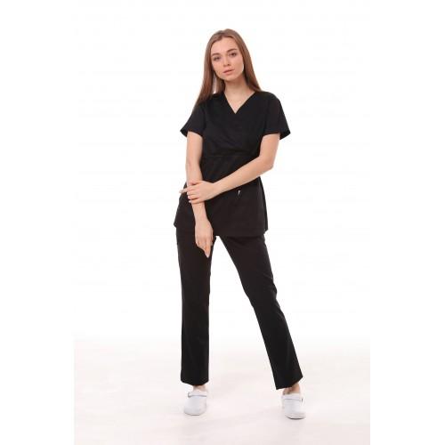 Медицинский костюм Манила Черный