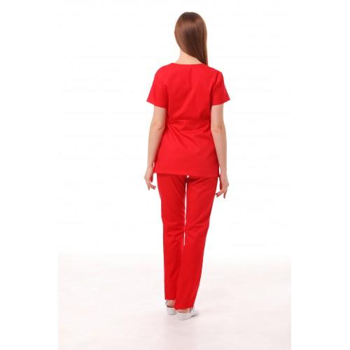 Медицинский костюм Манила Красный