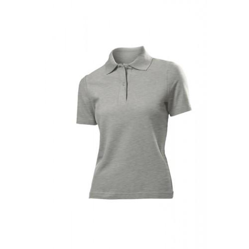 Футболка Polo Women, Серый меланж