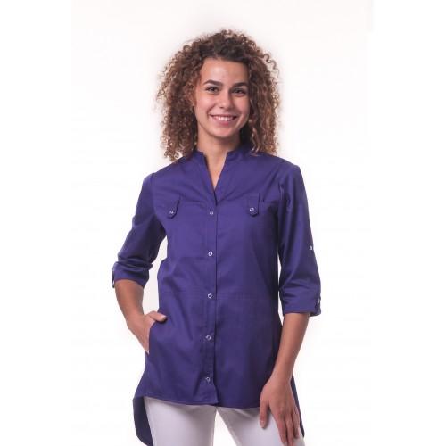Медицинская куртка Невада - Темно/фиолетовый