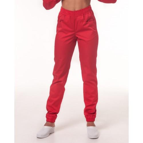Медицинские штаны Парма Красный