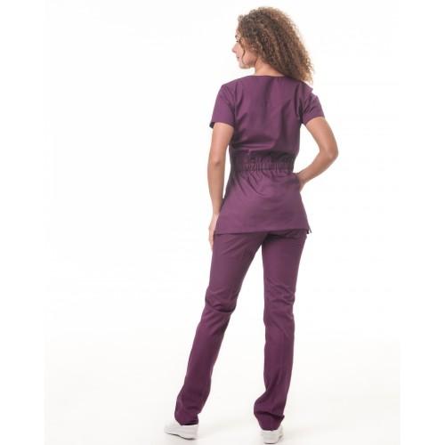Медицинский костюм женский Бали сливовый № 63321