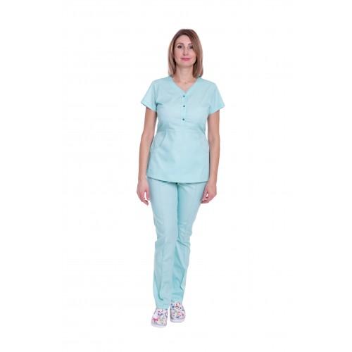 Медицинский костюм женский Бали мятный № 63322