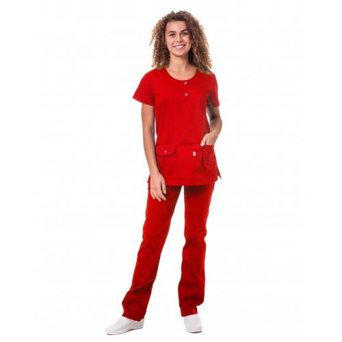 Медицинский костюм Флорида Красный