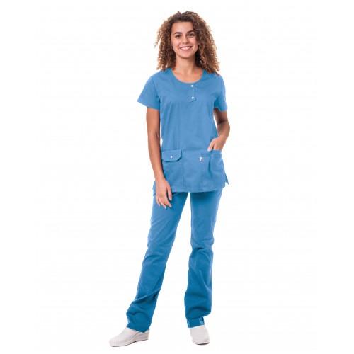 Медицинский костюм Флорида Небесный