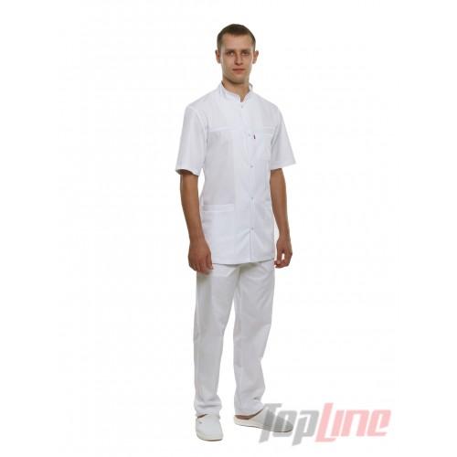 Медицинский костюм Берлин белый №127