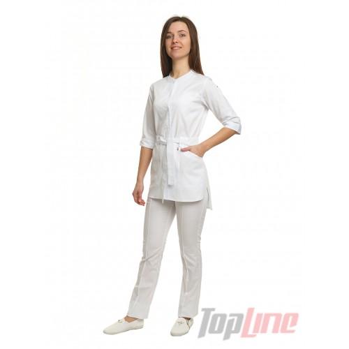Медицинский костюм Дели белый №1074