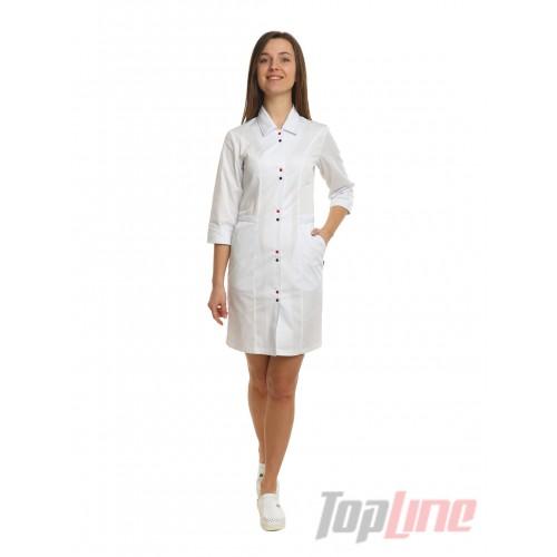 Медицинский халат женский Оксфорд белый №94