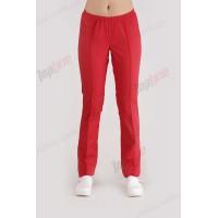Медицинские штаны без карманов Красный