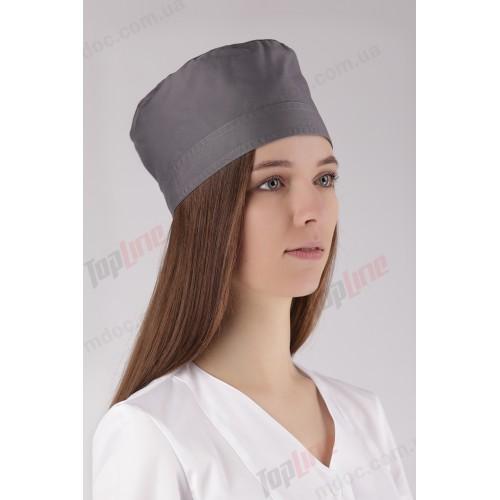 Медицинская шапочка серая №3