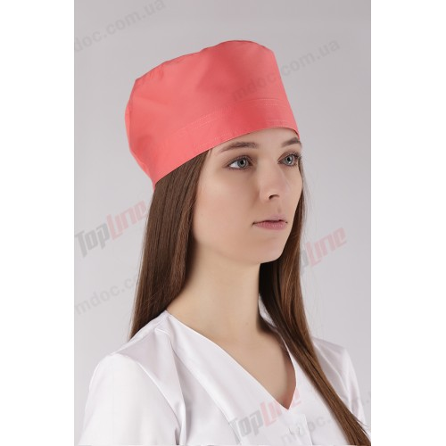 Медицинская шапочка коралл №6