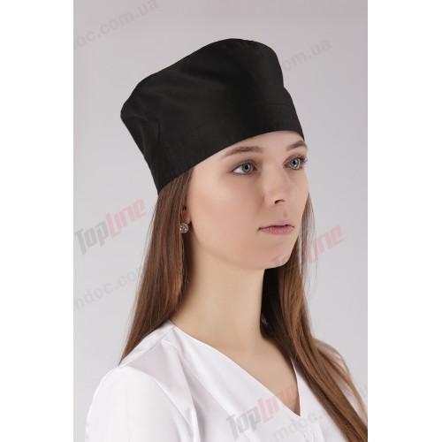 Медицинская шапочка черная  №8