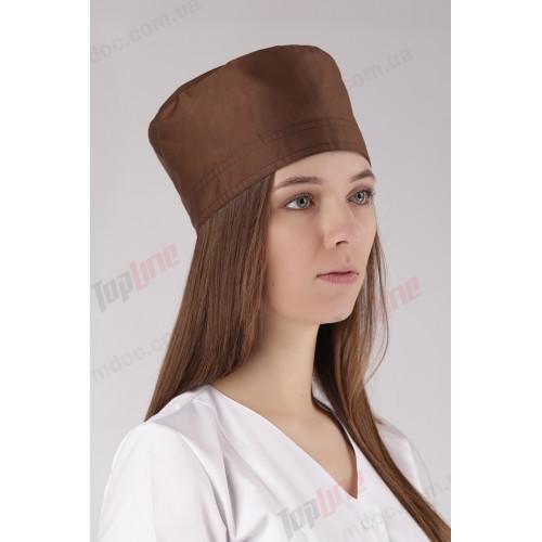 Медицинская шапочка коричневая №9