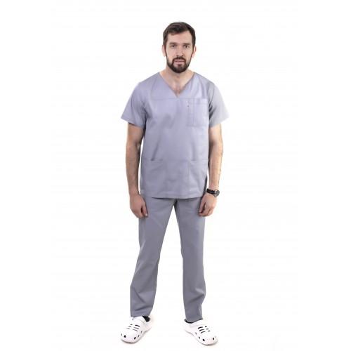 Медицинский костюм Мадрид Светло/серый