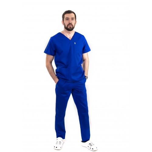 Медицинский костюм Мадрид Синий/электрик