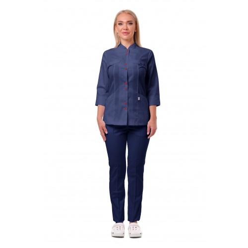 Медицинский костюм Пекин темно синий №633065