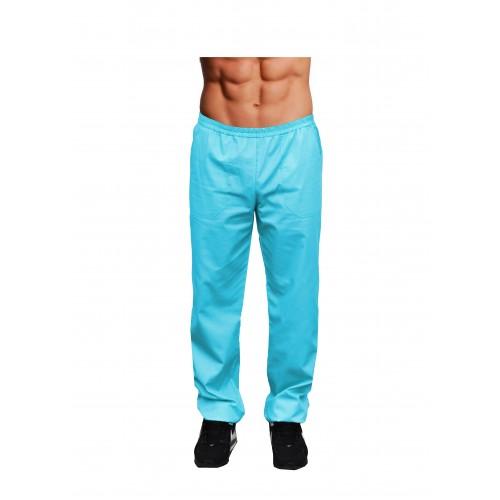 Медицинские штаны мужские Голубые
