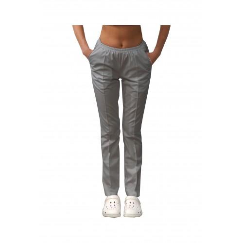 Медицинские штаны с карманами женские Светло/серый