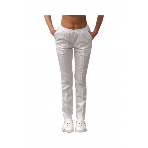 Медицинские штаны с карманами женские Белый