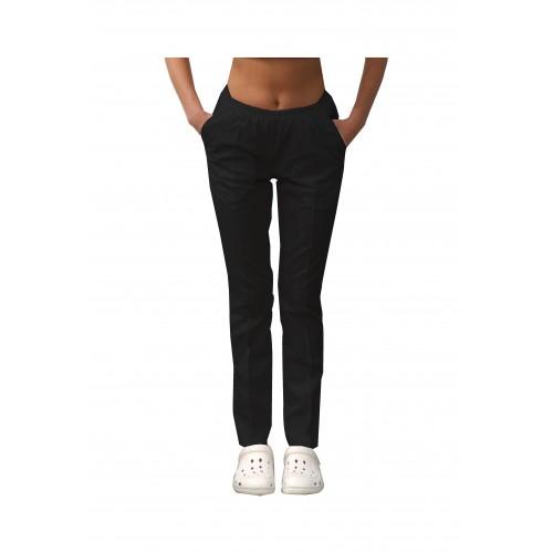 Медицинские штаны с карманами женские Черный