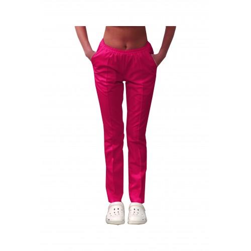 Медицинские штаны с карманами женские Малиновый