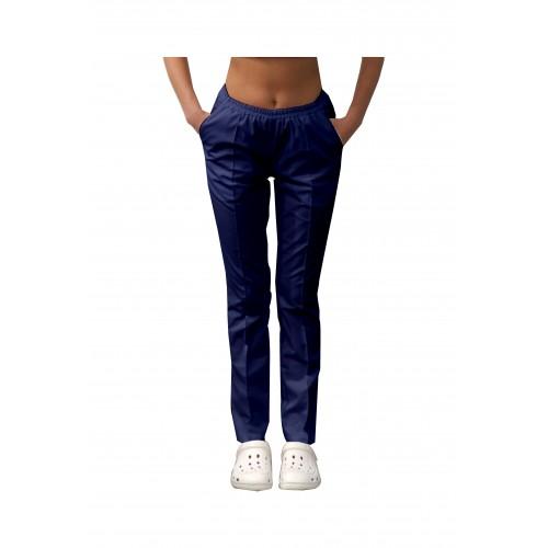 Медицинские штаны с карманами женские Темно/синий