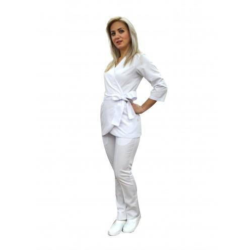 Медицинский костюм Токио белый/белый №633068