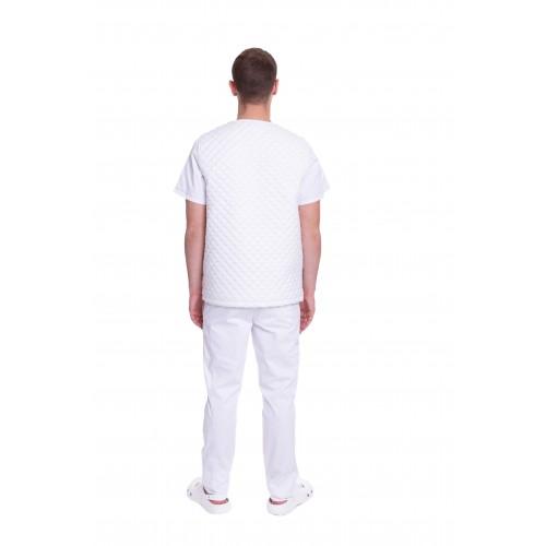 Медицинский жилет Юкон 1 стеганый Белый